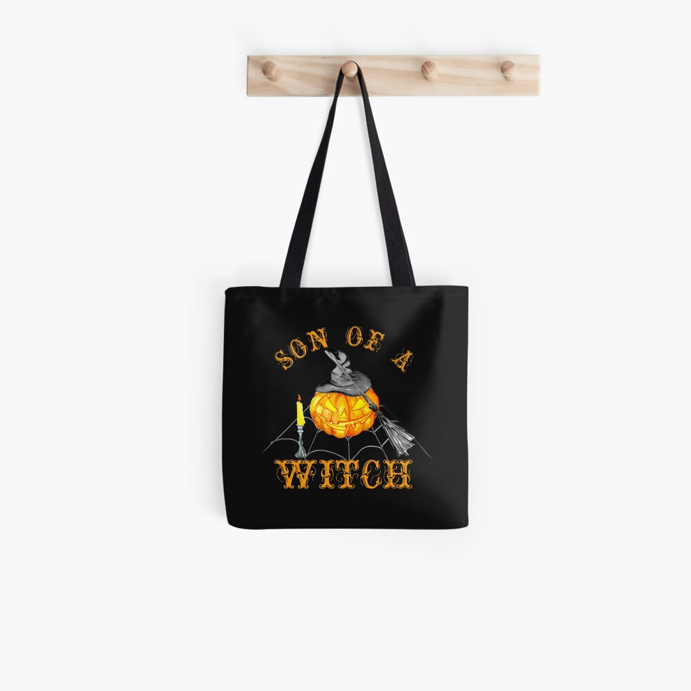 Son of a Witch Funny Halloween Party Gift  For Men Tote Bag
