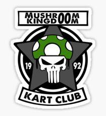 Mushroom Kingdoom Kart Club Sticker