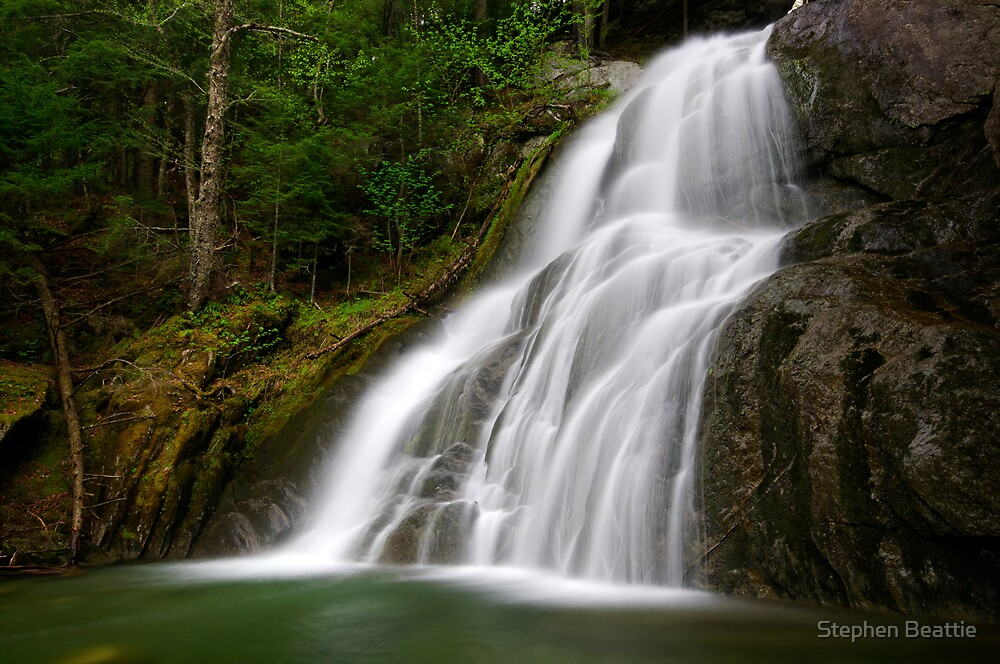 Moss Glen Falls - A Side View by Stephen Beattie