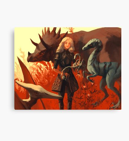 Dinosaur Knight Canvas Print