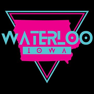 Waterloo Iowa Souvenirs IA Retro by fuller-factory