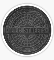 Manhole Covers NYC Black Sticker
