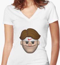 SPORT ROGER FEDERER EMOJI Women's Fitted V-Neck T-Shirt
