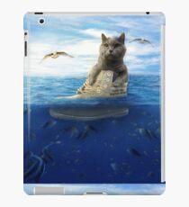 Vinilo o funda para iPad British shorthair en el mar