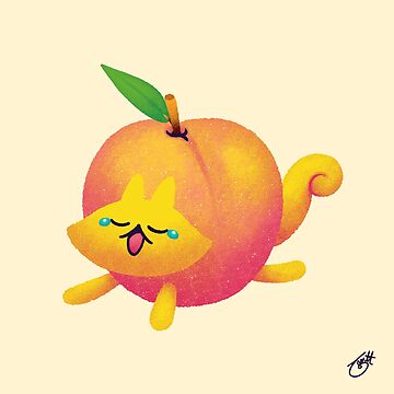 Peach Cat by knitetgantt