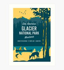 Lámina artística Ver América - Parque Nacional Glacier