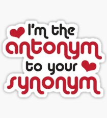 Pegatina I am the antonym