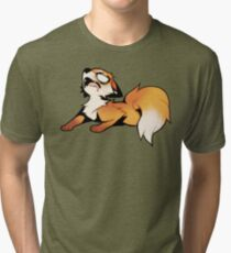 EXHAUSTED! Tri-blend T-Shirt