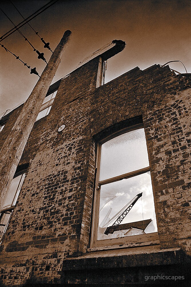 Old brick facade (duotone) by graphicscapes
