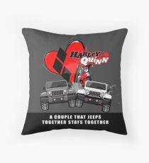 4x4 Couple Throw Pillow