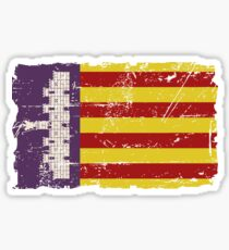 Mallorca Flagge - Vintage Look Sticker