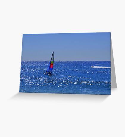 Sailing fun in the sun #2  Greeting Card