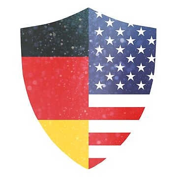 Germany American Flag Shield copy by ockshirts