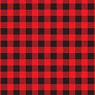 Rotes und schwarzes Buffalo Plaid Pattern von ValeriesGallery
