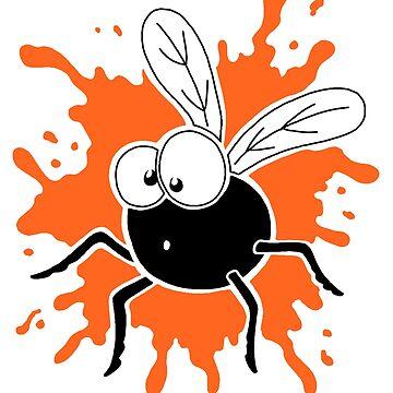Fly Splat - Orange by calvininnes