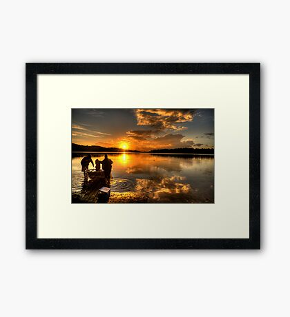 Anglers Dawn - Narrabeen Lakes,Sydney - The HDR Experience Framed Print