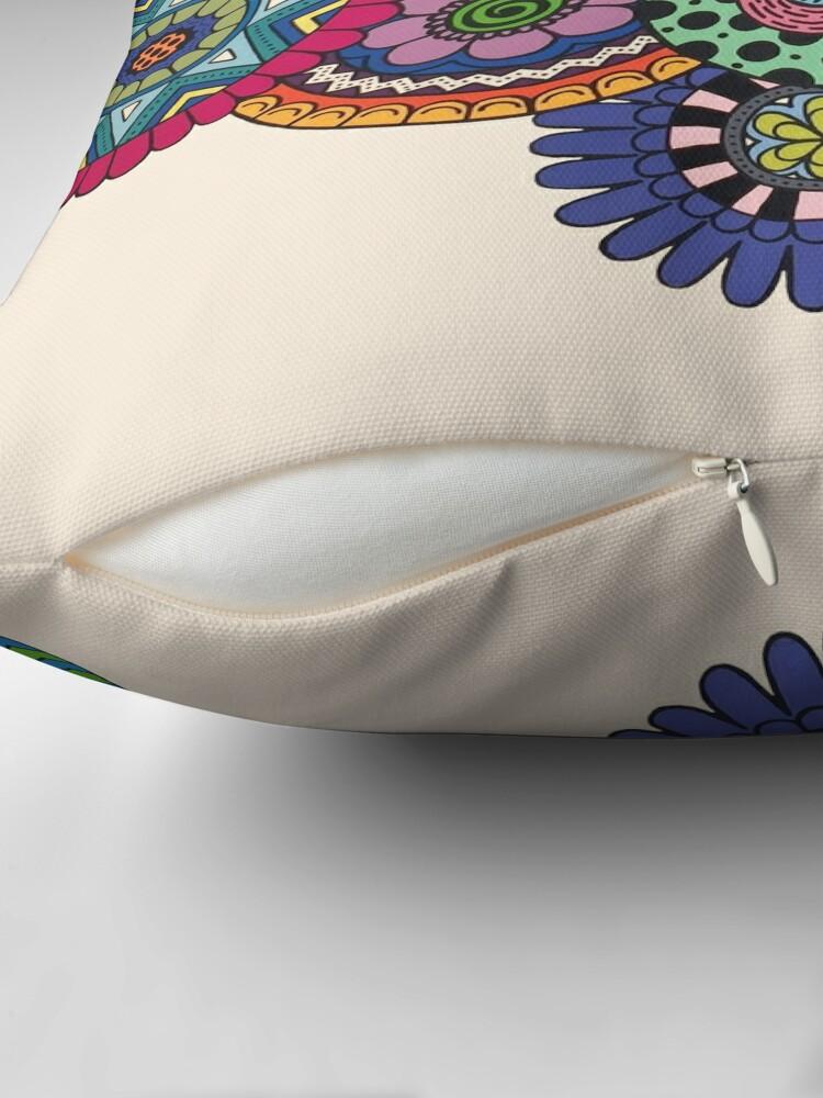 Alternate view of Mandalas On Ivory Floor Pillow