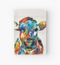 Colorful Cow Art - Mootown - By Sharon Cummings Hardcover Journal