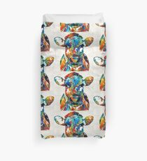 Colorful Cow Art - Mootown - By Sharon Cummings Duvet Cover