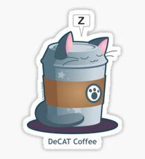 Cute Cat Coffee: Decaff Cat Sticker