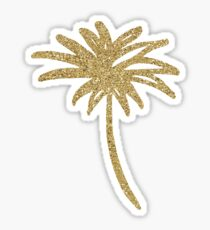 Metallic Gold Palms On Black Sticker
