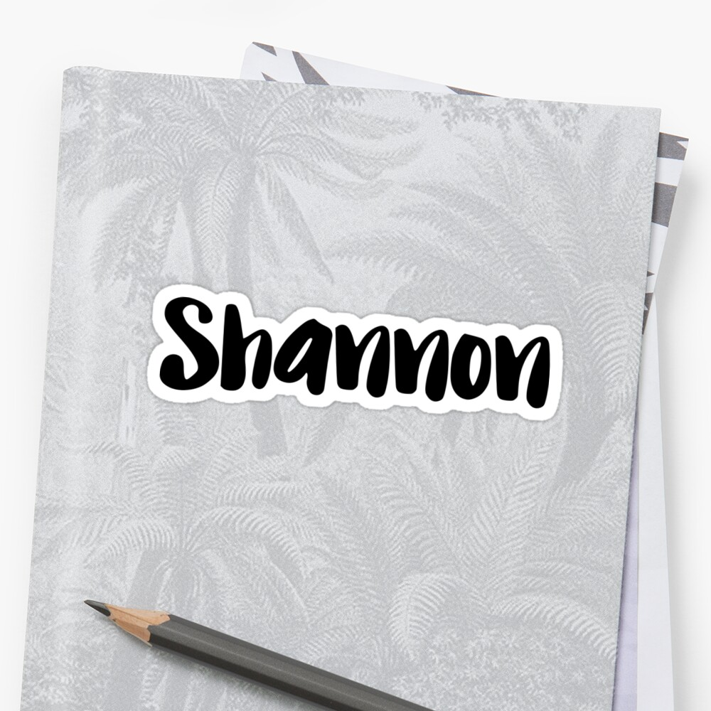 Shannon Sticker