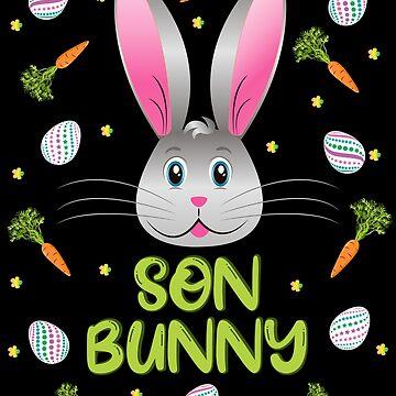 Son Bunny Easter Rabbit Carrot Egg Hunt Boys Kids Men Gift by ZNOVANNA