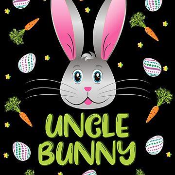 Uncle Bunny Easter Rabbit Carrot Egg Hunt Men Adult Gift by ZNOVANNA