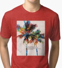 Colorful Palm Trees - Returning Home - By Sharon Cummings Tri-blend T-Shirt