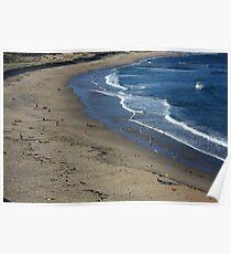 Autumn Beachscape Poster