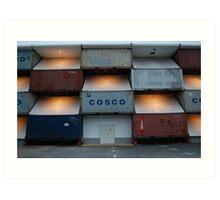 Cosco by night Art Print