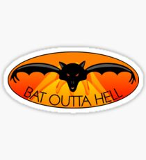 Bat Outta Hell Sticker