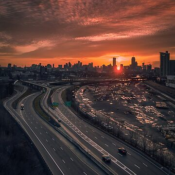 Allston railyard at sunrise, Boston by mattmacpherson
