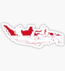 Flag Map of Indonesia Sticker