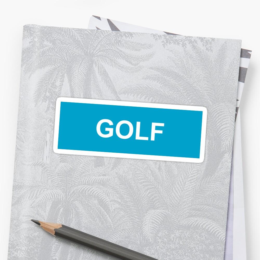 GOLF-Logo Sticker