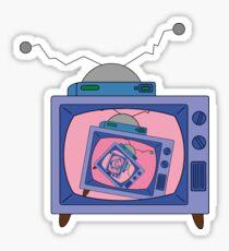 crazy tv simpsons Sticker
