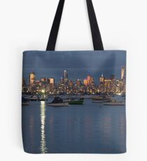 Melbourne skyline as seen from Williamstown Tote Bag