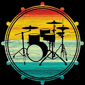 Drum kit silhouette T-shirt by mjacobp