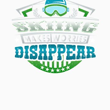 Skiing Makes Worries Disappear Athlete Gift by orangepieces