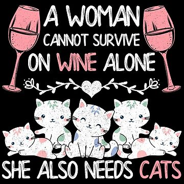 Wine Cats T-Shirt by mjacobp