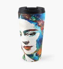Taza de viaje Arte de Frida Kahlo - Viva La Frida - Por Sharon Cummings
