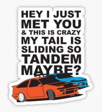 Tandem Maybe Glossy Sticker