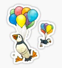 The Puffins Are Getting Carried Away Sticker