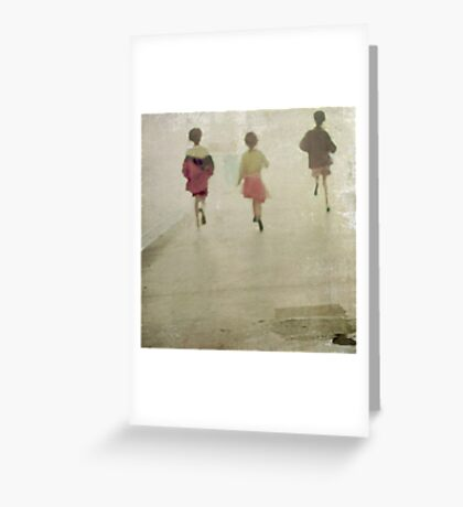 running from~ Greeting Card