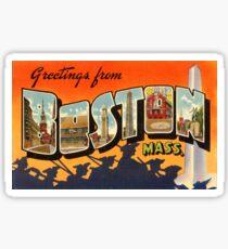 Vintage Reise-Postkarte Bostons wieder hergestellt Sticker