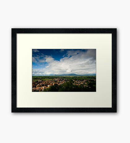 View From Palazzo Borghese Framed Print