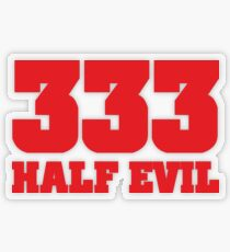 333 Half Evil Transparent Sticker
