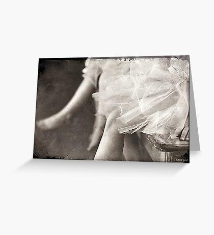 waiting ballerina's Greeting Card