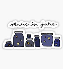 Sterne in Gläsern Sticker