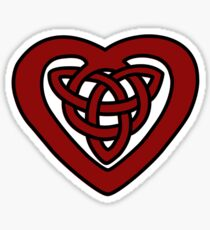 Red Celtic Knot Heart Sticker